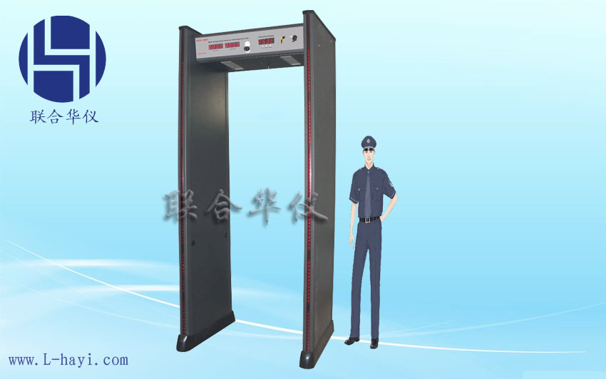 安检门HY7807MJ温度检测型 温度检测安检门 温度检测金属探测门